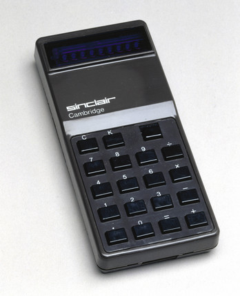 Sinclair Cambridge electronic calculator, 1973.