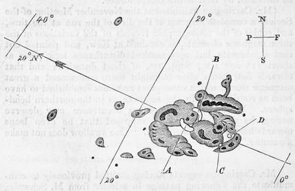 'Description of a Singular Appearance seen in the Sun', 1859.