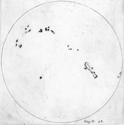 Sunspots, 1612.