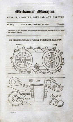Sir George Cayley's Patent Universal Railway, 1826.