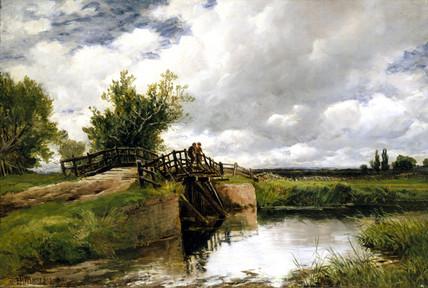 'Black Bridge on the Ouse', 1891.