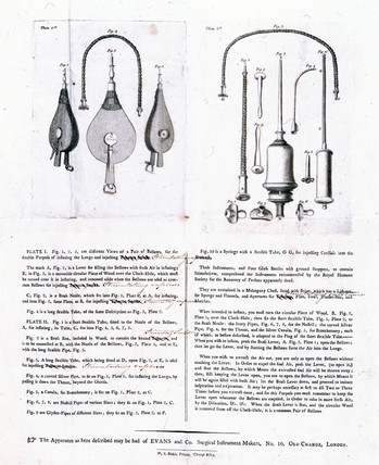 Tobacco resuscitator, 1774.