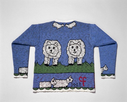 Jumper produced with wool taken from Dolly the sheep, 1998.