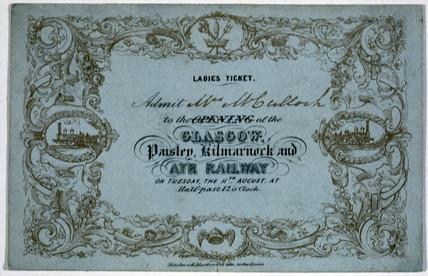 Ladies ticket, 1840.