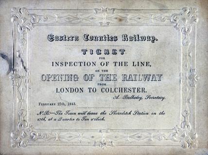 Train ticket, 1843.
