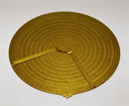 Spiral slide rule, 1663.