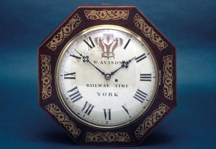 Railway clock, 1840-1880.
