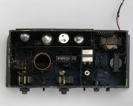 Ekco 'Mains Drive', three-valve radio receiver, 1929.