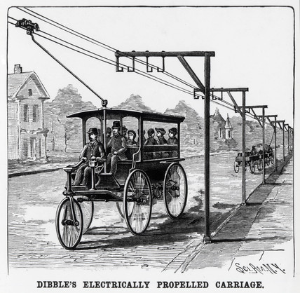 Dibble's Electrically Propelled Carriage', 1889.