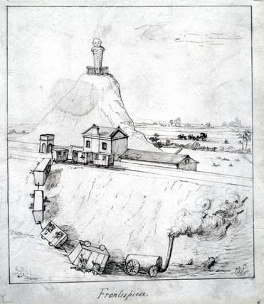 'Frontispiece', a derailment, 1835.
