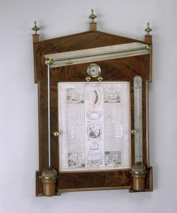 Diagonal barometer, c 1763. Diagonal barome