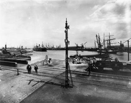 The Caledonian Railway's docks at Grangemou