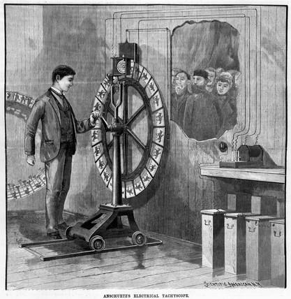 Otto Anschuetz's electrical Tachyscope, 1889.