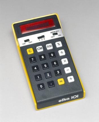 Elka 101, electronic pocket calculator, 1976.