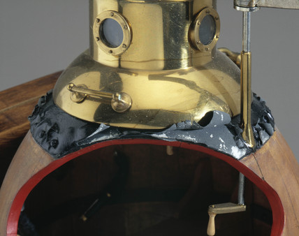 Detail of model of submersible 'Turtle', 1776.