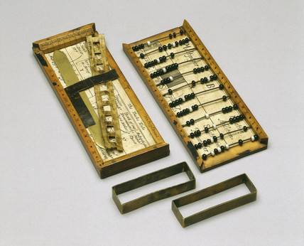 'Instrument for Arithmeticke', 1677. Abacus