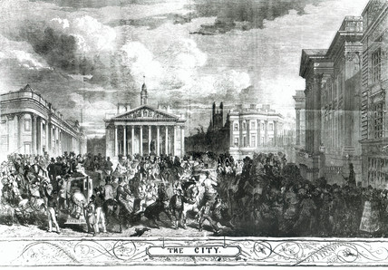 View of Mansion House, City of London, 1851.