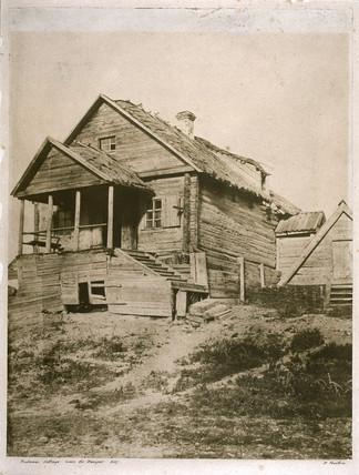 Rusian cottage near the Dreiper, Kiev, c 1850s.