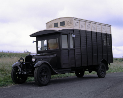 'Model A' Ford with Curtes horse box body, 1929.
