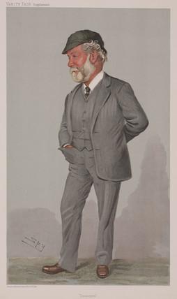 Sir John Isaac Thornycroft, English naval architect and engineer, c 1910.