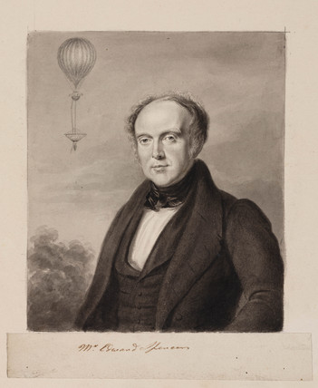 Edward Spencer, English solicitor and aeronaut, 1839.