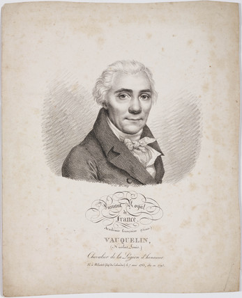 Nicolas Louis Vauquelin, French chemist, 1820.