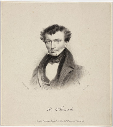 William Whewell, English polymath, c 1820s.