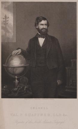 Tagliaferro Preston Shaffner, American telegraph promoter, c 1870.