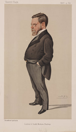 Sir Charles Scotter, English railway manager, 1891.