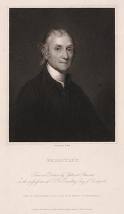 Joseph Priestley, English-American theologian and chemist, c 1800.