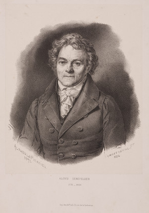 Alois Senefelder, German inventor of lithography, early 19th century.