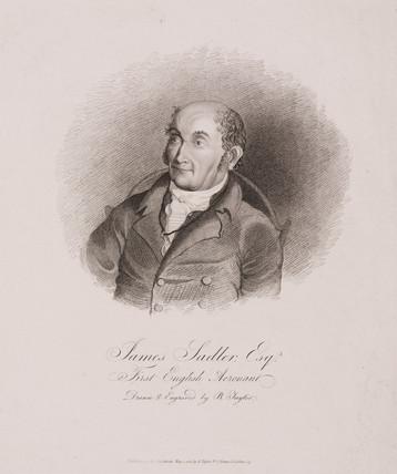 James Sadler, the first English aeronaut, 1812.