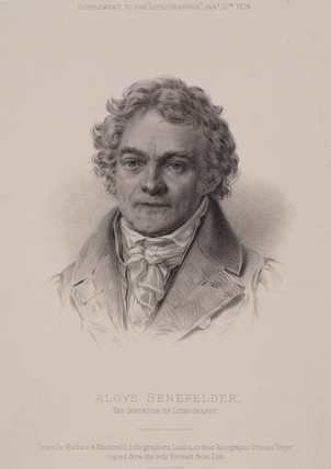 Alois Senefelder, German inventor of lithography, c1810.