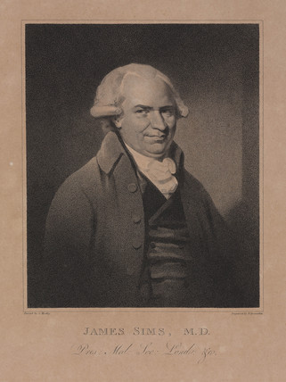 James Sims, English physician, c 1799.