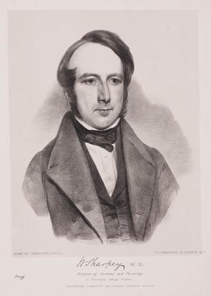 William Sharpey, English physician, c 1842.