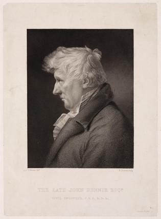 John Rennie, Scottish civil engineer, c 1820.