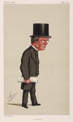 Lyon Playfair, Baron St Andrews, Scottish chemist and politician, 1875.