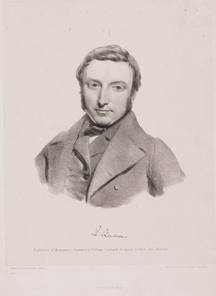 Richard Quain, Irish surgeon, c 1850.