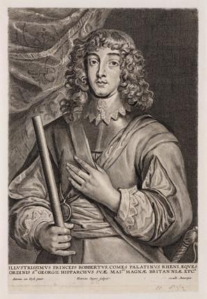 Prince Rupert, cavalry officer, c 1640.