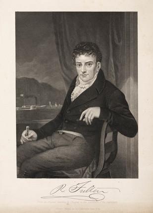 Robert Fulton, American artist and inventor, c 1800.
