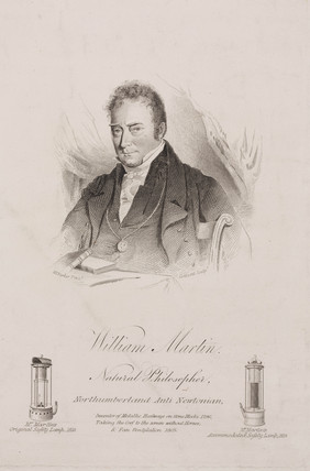 William Martin, English poet and physicist, c 1820s.