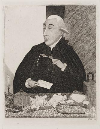 Joseph Black , chemist, lecturing, 1787.