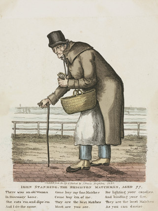 John Standing, 'The Brighton Matchman', 1829.