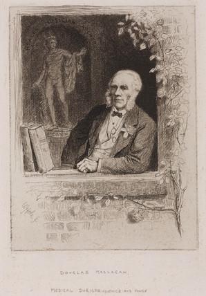 Sir Douglas MacLagen, Scottish profesor, 1884.
