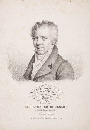 Alexander von Humboldt, German naturalist and explorer, 1821.