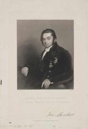 Jons Jacob Berzelius, Swedish chemist, c 1843.