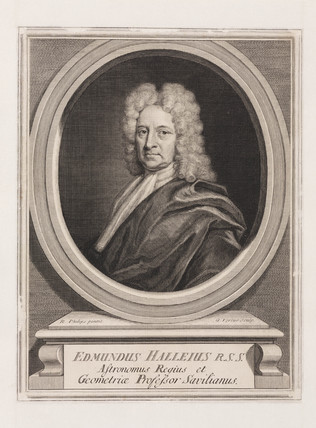 Edmond Halley, astronomer, c 1700.