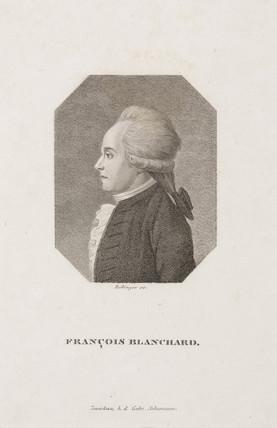 Jean-Pierre Francois Blanchard, French aeronaut, c 1800.
