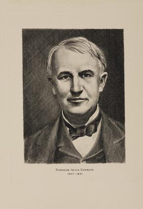Thomas Alva Edison, American inventor, early 20th century.