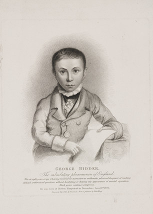 George Parker Bidder, mathematician, engineer  and child prodigy, 1815.